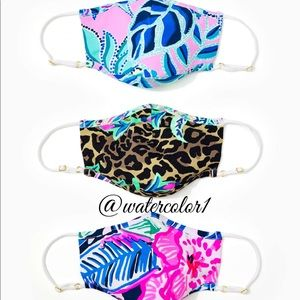 🆕 Lilly Pulitzer Face Masks 3 Pack 💯% authentic